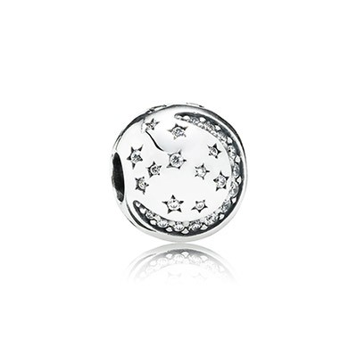 PANDORA Twinkling Night with Clear CZ Clip